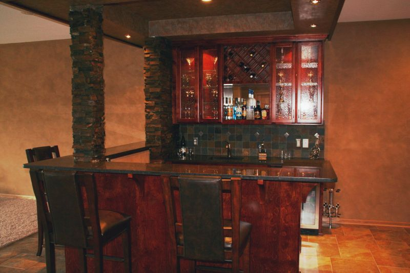 Minnesota Home Bar Gallery | Bar Remodel Ideas | Mosaic Tile ...